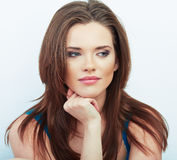 Woman beautiful face portrait. Stock Photography