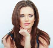 Woman beautiful face portrait. Stock Photography