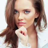 Woman beautiful face portrait. Royalty Free Stock Images