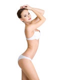 Woman with beautiful female body Stock Photo