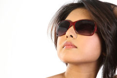 Woman with beautiful glasses Stock Photo