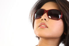 Woman with beautiful glasses Royalty Free Stock Photos