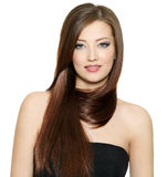 Woman with beautiful hair Stock Photography