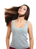 Woman with beautiful hair Royalty Free Stock Images
