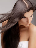 Woman with Beautiful Hair Royalty Free Stock Image