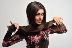 Woman with beautiful hair Stock Image