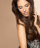 Woman With Beautiful Hair Royalty Free Stock Photography