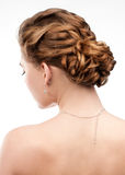 Woman with beautiful hairstyle Stock Images