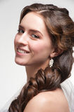 Woman with beautiful hairstyle Royalty Free Stock Photos