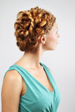 Woman with beautiful hairstyle Royalty Free Stock Photo