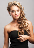 Woman with beautiful hairstyle Royalty Free Stock Photography
