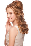 Woman with beautiful hairstyle Royalty Free Stock Image