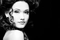 Woman beautiful halloween vampire aristocrat. Woman beautiful halloween vampire baroque aristocrat Stock Photo