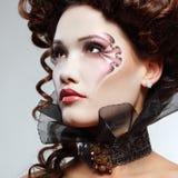 Woman beautiful halloween vampire Stock Photography