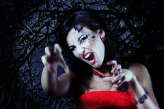 Woman beautiful halloween vampire Royalty Free Stock Photo