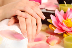 Woman with beautiful hands Stock Photography