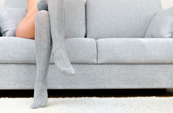 Woman with beautiful legs. Stock Image