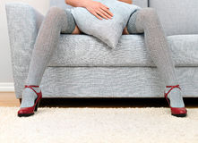 Woman with beautiful legs. Royalty Free Stock Photos