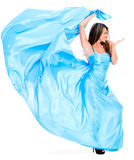 Woman in a beautiful long dress Royalty Free Stock Photo