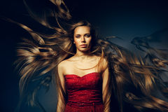 Woman with beautiful long hair Royalty Free Stock Photo