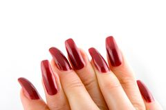 Woman beautiful long nails Royalty Free Stock Images