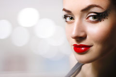 Woman beautiful make-up Royalty Free Stock Image