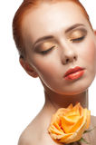 Woman with beautiful make-up Royalty Free Stock Images