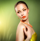 Woman with beautiful make-up Royalty Free Stock Photo