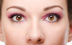Woman with beautiful makeup Stock Photo