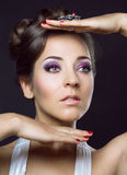 Woman with beautiful makeup and hair Royalty Free Stock Photo