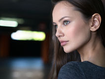 Woman Beautiful Portrait City Urban Face Young. Stock Images