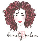 Woman beautiful silhouette with hair style. With water colored background, illustration may be use for beauty salon signboard Stock Image