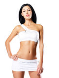 Woman with beautiful slim tanned body Stock Images