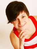 Woman with beautiful smile Royalty Free Stock Photos