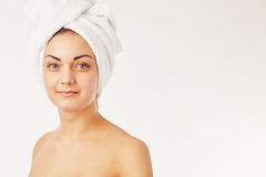 Woman beautiful woman in spa. Picture of beautiful woman beautiful woman in spa Royalty Free Stock Photos