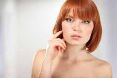 Woman beautiful young make-up Stock Photo