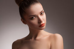 Woman with beauty face, glamour makeup Stock Photography