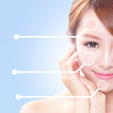 Woman with beauty face and perfect skin Stock Photography