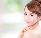 Woman with beauty face and perfect skin Royalty Free Stock Images