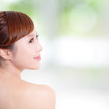 Woman with beauty face and perfect skin Stock Photo