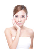 Woman with beauty face and perfect skin Royalty Free Stock Image