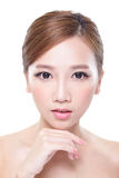 Woman with beauty face and perfect skin Royalty Free Stock Photos