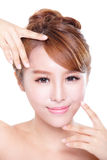 Woman with beauty face and perfect skin Royalty Free Stock Photography