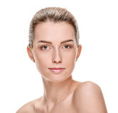 Woman with beauty face Royalty Free Stock Images