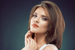 Woman beauty face. Sensual woman close up face. Royalty Free Stock Photo