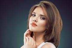 Woman beauty face. Sensual woman close up face. Royalty Free Stock Photo