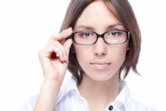 Woman beauty glasses Royalty Free Stock Photos