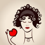 Woman Beauty Icon Royalty Free Stock Image