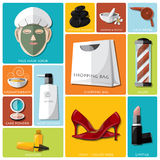 Woman Beauty And Lifestyle Flat Icon Set Stock Photo