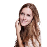 Woman with beauty long brown hair Royalty Free Stock Photos
